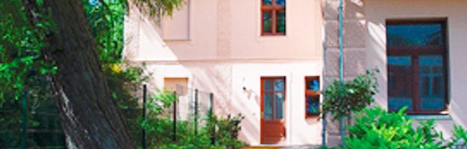 Ferienhaus Ferienwohnung TUSCULUM in der Villa Hintze Seebad Heringsdorf Usedom von außen