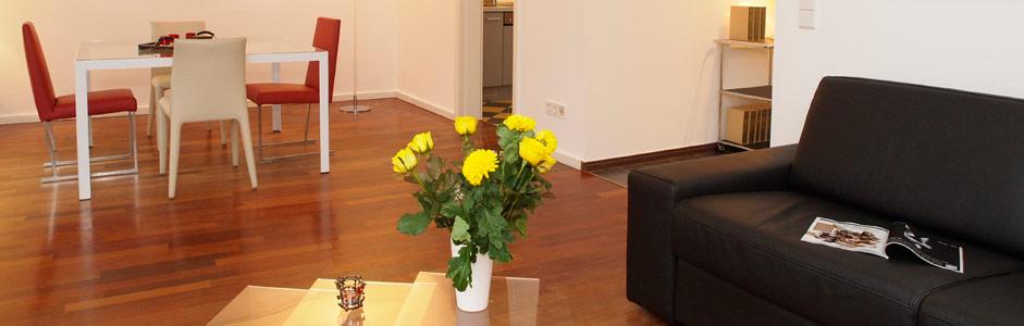 Wohnzimmer Ferienwohnung Ferienhaus Tusculum in der Villa Hintze Heringsdorf Usedom
