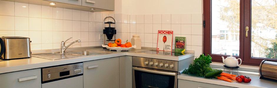 Küche Ferienhaus Tusculum in der Villa Hintze Heringsdorf
