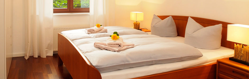 Zwei Schlafzimmer Ferienwohnung Tusculum in der Villa Hintze Heringsdorf Usedom