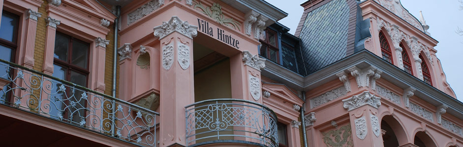Teilansicht Ferienwohnung Ferienhaus Tusculum strandnah der Villa Hintze Seebad Heringsdorf Usedom